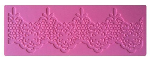 Silicone Teardrop Lace Cake Decorating Mold, Decorating Tools, Embossing Cake Fondant Mold, Sugar Lace Cupcake Mat for Cake Decorating or Arts, Crafts Supplies