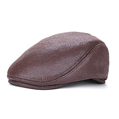 de Hombre de Visera PU para hat C de A Vintage qin Sombreros GLLH Informal Gorra Sombrero Pintor Sombrero wSxHY8HFq