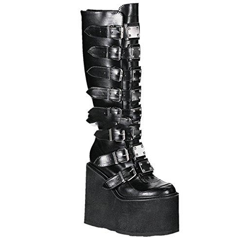Demonia Swing-815 - gothic punk industrial punk mega platform boots shoes 3,5-9, Size:EU-40/41 / US-10 / UK-7