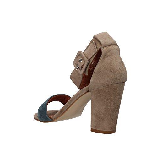 CARMENS - Sandalias de vestir de ante para mujer Beige