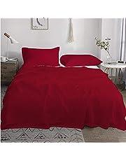طقم ملاية سرير قطن لغرف الفنادق و المنازل من ماي ودينج (احمر, (لسرير دبل (الغرف الرئيسية)