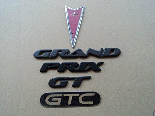 99-01 Pontiac Grand Prix GT GTC Arrow Head Front Logo door & Tailgate Emblem Decal Set Of