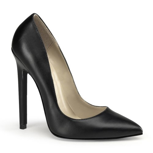 (5 Inch High Heel Dress Shoes Classic Pumps Women's Sexy Shoes Size: 9 Colors: BlackPU)