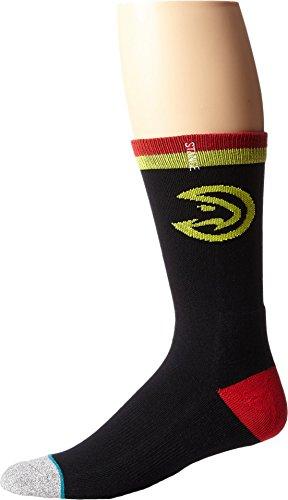 Stance M558D5HAWK Men's Hawks Arena Logo Sock, Black - Large (9-12)