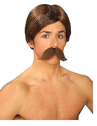 Burt Brown Wig And Moustache Adult Set