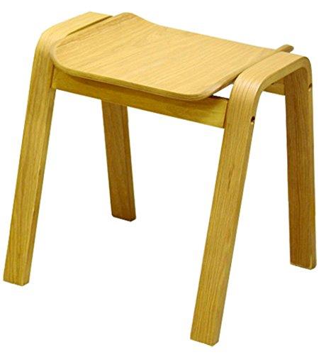 【来客用、予備チェアに便利】 天然木 シンプルデザイン スタッキングスツール 4脚セット (ナチュラル) B07CBT86Y3ナチュラル