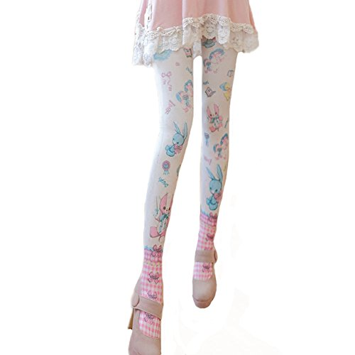 Pantyhose For Women Girls Blessi Ladies Hosiery Tights With Velvet Rabbit Pattern M  1 Pack