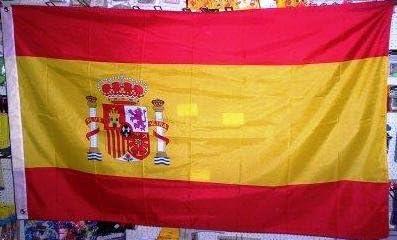 Bandera grande 90 x 150 cm con ojales de España: Amazon.es ...