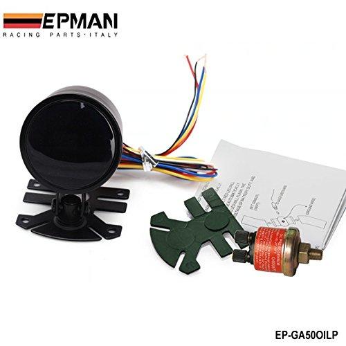 New Epman Racing 2' 52mm Smoked Digital Color Analog LED Psi/Bar Oil Press Pressure Meter Gauge With Sensor EP-GA50OILP Bo Luo