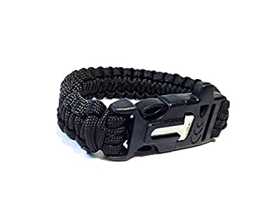 Paracord Survival Bracelet with Fire Starter and Safety Whistle - Tactical Tool for Men or Women - The Ultimate Survival Tool! from Lucid Fitness