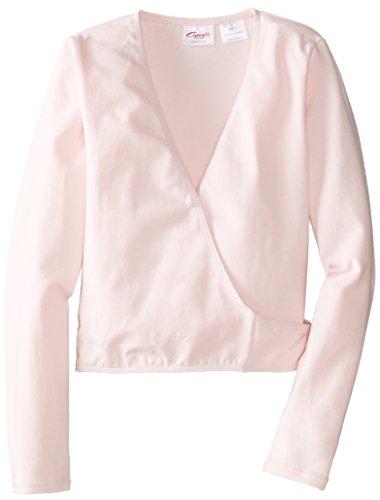 Capezio Little Girls' Classics Wrap Top, Pink, Small