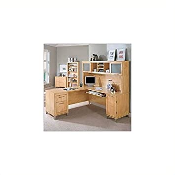 Bush Furniture Somerset left L-Shape Office Set in Maple Cross