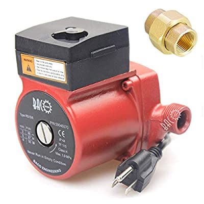 "BACOENG 3/4""-2"" 110V/115V BSP Hot Water Circulation Pump /Circulator Pump For Solar Heater System With US Plug"