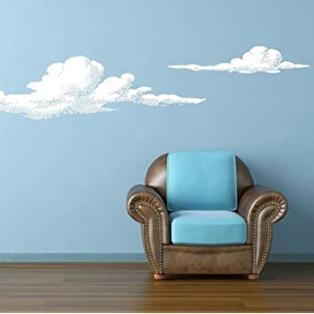 Bon Wall Vinyl Sticker Decals Decor Art Bedroom Design Mural Set Of 2 Cloud  (Z826)