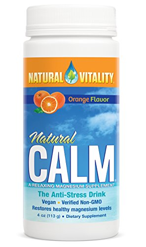 Natural Vitality Natural Calm Magnesium Anti Stress, Organic, Orange, 4 oz
