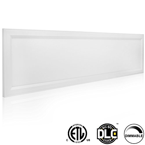 Hykolity LED Troffer Flat Panel Flushmount Light 1 ft. x 4 ft. Edge-Lit, 40W (120W Equivalent), 4000LM, Internal Driver, 0-10V Dimmable, 4000K, Ultra Thin Integrated Ceiling Lights Fixture