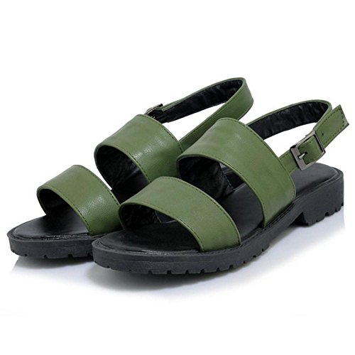 TAOFFEN Green Army Scarpe Donna Sandali Fibbia 0rnwA0C