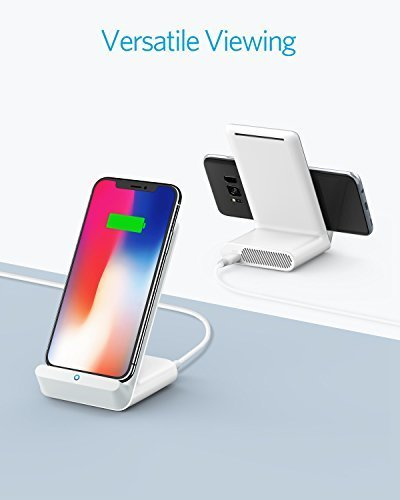Anker PowerWave 7.5 Fast Wireless Charging Stand with Internal Cooling Fan, Qi-Certified, 7.5W Charges iPhone X /8/8 Plus, 10W Charges Galaxy S9/S9+/S8/S8+/S7/Note 8, LG G7 (with Quick Charge Adapter) by Anker (Image #7)