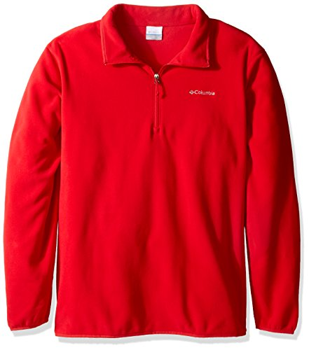 Columbia Men's Ridge Repeat Half Zip Fleece Jacket, Mountain Red, Large Tall