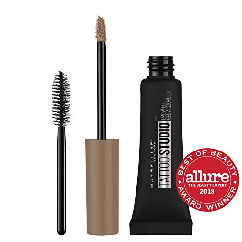 Maybelline New York TattooStudio Waterproof Eyebrow Gel Makeup, Soft Brown, 0.23 fl. oz.