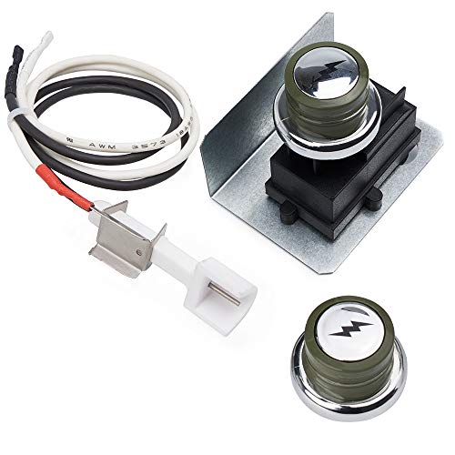 X Home 67847 Igniter Kit Fits for Weber Genesis 300/310 Series (2008-2010) Genesis E310 S310 E320 S320 Grills with Side-Control, 2 Ignitor Buttons (One as Gift) Ignition Module Ceramic Collector Box