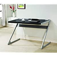 Coaster Home Furnishings 800820 Bluetooth Desk with Built In Speakers, Black/Silver