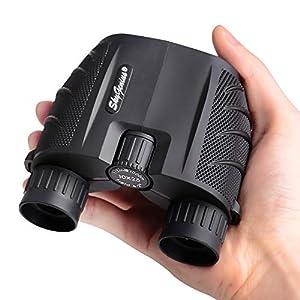 SkyGenius 10×25 Compact Binoculars, BK4 Roof Prism FMC Lens Kid Binoculars for Bird Watching, Binoculars for Adults…