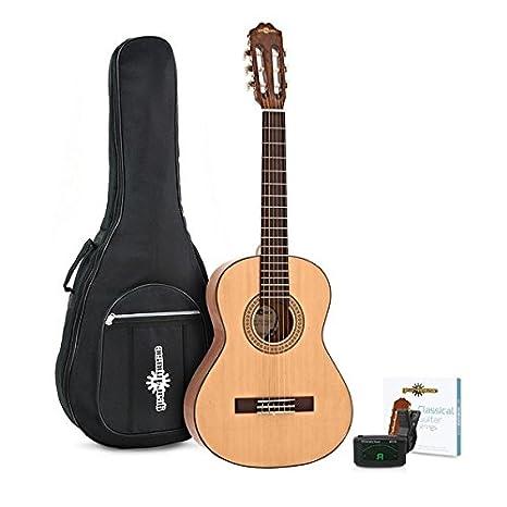 Paquete de Guitarra Espanola 3/4 Deluxe de Gear4music Natural ...