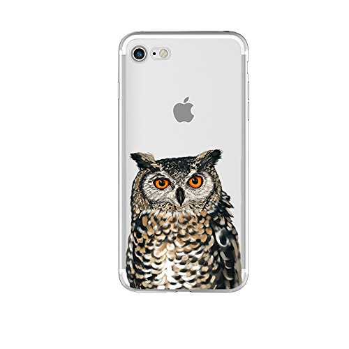 iPhone 8 Plus Case/iPhone 7 Plus Case(5.5inch),Blingy's Animal Design Transparent Clear Soft TPU Protective Case for iPhone 8 Plus/iPhone 7 Plus (Owl)
