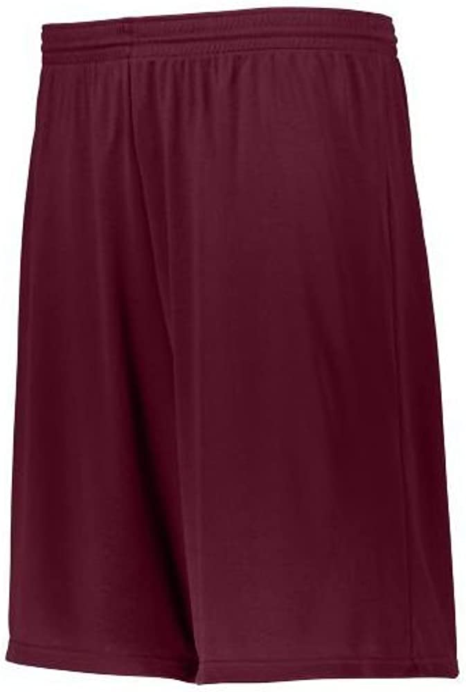 Medium Maroon Augusta Activewear Youth Longer Length Attain Short