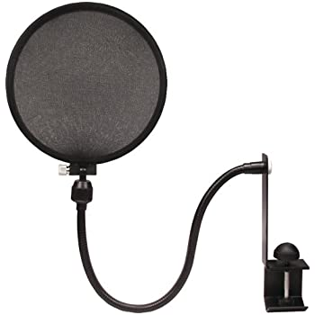 Nady MPF-6 6-Inch Clamp On Microphone Pop Filter with Flexible Gooseneck and Metal Stabilizing Arm