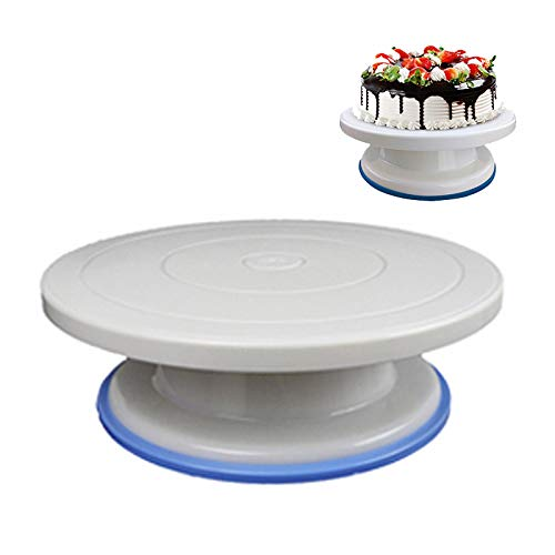 Tocadiscos giratorio de plástico para tartas y pasteles, mesa ...