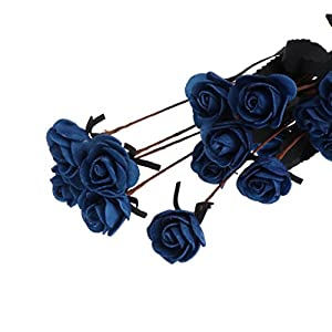 LIYUDL Artificial Flowers Bouquet 15 Heads PE Fake Mini Rose Flowers Plants Simulation Ornaments Valentine's Day, Anniversary Gift for Garden Home Weeding Party OfficeTable Centerpieces 113