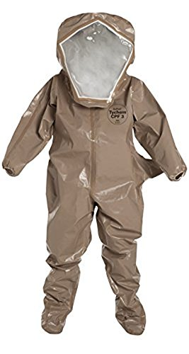 - Dupont C3526TTN4X000600 Tychem CPF 3 Encapsulated Level B Suit, 4X-Large (Pack of 6)