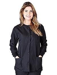 Natural Uniforms Women's Scrub Set Workwear Warm Up Jacket (Small-Plus Sizes)