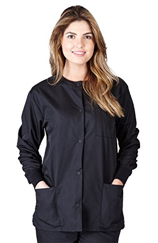 Natural Uniforms Women's Warm Up Jacket (Black) (XS) (Plus Sizes Available)