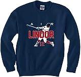 "The Silo NAVY Cleveland Francisco Lindor ""AIR"" CREWNECK Sweatshirt"