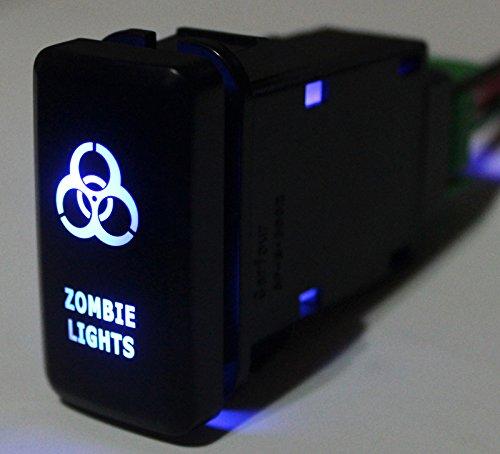 Bandc Custom Zombie Lights Push Switch Blue Led Light for Toyota Prado Hilux Landcruiser Fj Cruiser
