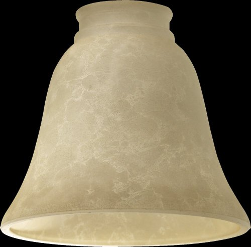 Quorum 2812E, Cream Mottled Scavo Glass - Scavo Glass Accessory