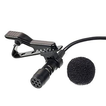 Clip Micrófono Condensador para Ordenador Portátil 3,5 mm: Amazon.es: Instrumentos musicales