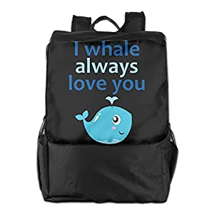 Rongyingst I Whale Always Love You Messenger Bag Shoulder Backpack Travel Hiking Rucksack For Womens Mens Boys Girls School Bookbags One Size