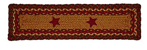IHF Home Decor Cinnamon Star Jute Braided Stair Tread Rectangle Rug 8 x 28 Inch from IHF Home Decor