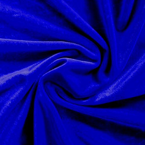 stretch-velvet-fabric-60-wide-by-the-yard-for-sewing-apparel-costumes-craft-1-yard-royal-blue