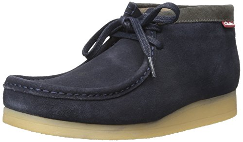 CLARKS Men's Stinson Hi Chukka Boot Blue Suede outlet Cheapest websites online clearance from china 2EhFN