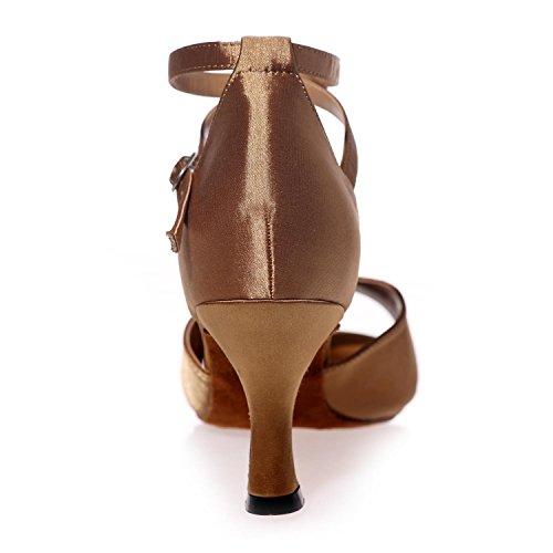 L@YC Zapato De La Danza De Las Mujeres Zapatos De Cuero Buckle Cuba Con Custom Profesional / Multicolor Black