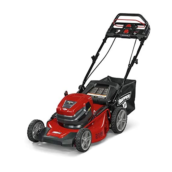 Snapper XD 82V MAX Step Sense Cordless Electric 19-Inch Lawn Mower Kit with (2) 2.0 Batteries and (1) Rapid Charger 1 StepSense Automatic Drive System : Intelligently adjusts to your mowing speed for easy operating pace Dual battery power head : houses two batteries to provide additional run time of up to 60 minutes** Intelligent load sensing technology : allows for optimum power levels while you mow for maximum efficiency