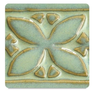 Textured Pottery - Amaco Potter's Choice Glaze, Textured Turquoise Pint
