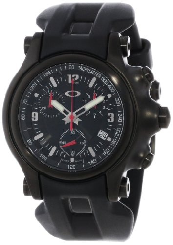 Oakley Men's 10-228 Holeshot Stealth Unobtainium Limited Edition Chronograph Rubber Watch