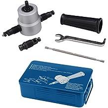 Harpow 5pcs Set Double Head Cutter Sheet Metal Nibbler Cutter Power Drill Attachment