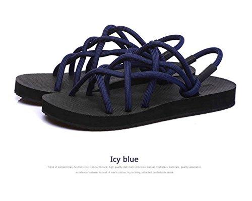 Puntera Hogar Blue Zapatillas Malla 37 con 42 para Parejas Respirables El Sandalias para De XING Correas Y Antideslizantes GUANG Black Sandalias WYqZAxngw